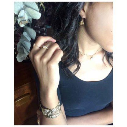 look boucles d'oreilles créoles antique médaille dolita