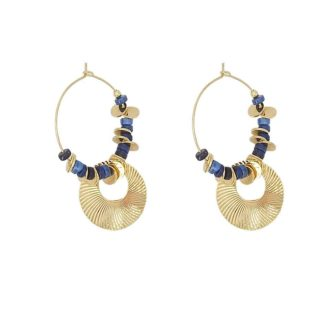 boucles d'oreilles lapis lazuli petite madame dolita