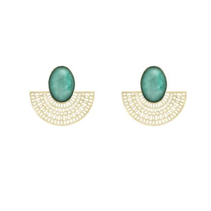 boucles d'oreilles aztèque amazonite Fabien Ajzenberg dolita