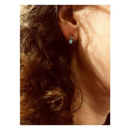 look boucles d'oreilles puce labradorite canyon dolita