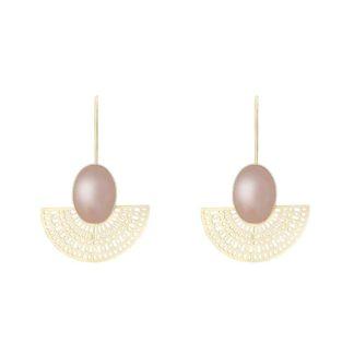 boucles d'oreilles aztèque fabien ajzenberg quartz rose