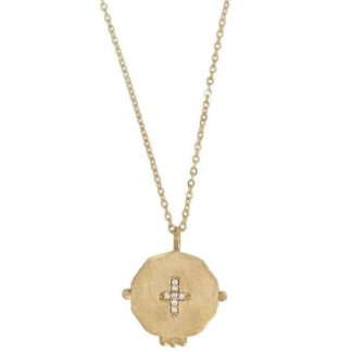 collier médaille croix virginie berman