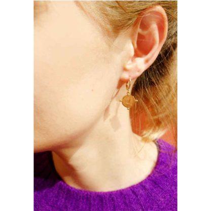 boucles d'oreilles mini créoles pièce antique eva virginier berman
