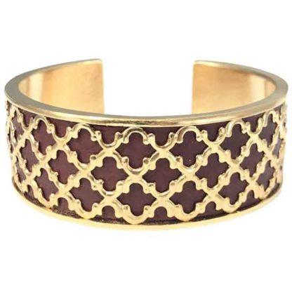 bracelet manchette napoli chocolat dear charlotte dolita