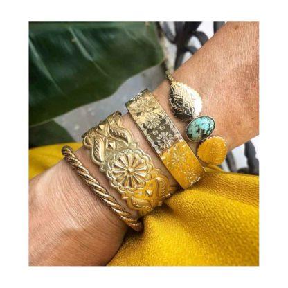 Look bracelet manchette fantaisie doré delphes dolita immortelle