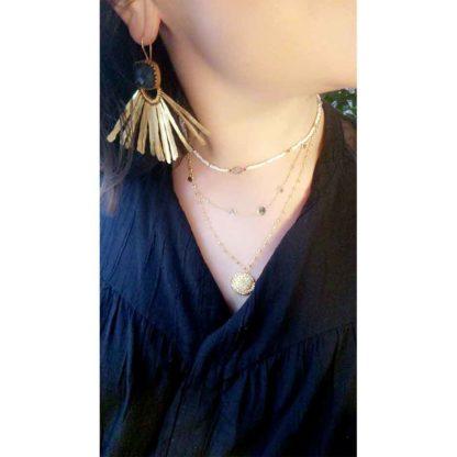 look collier sautoir médaille antique delphes chez doilita
