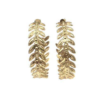 boucles d'oreilles maxi créoles dorées la2l dolita