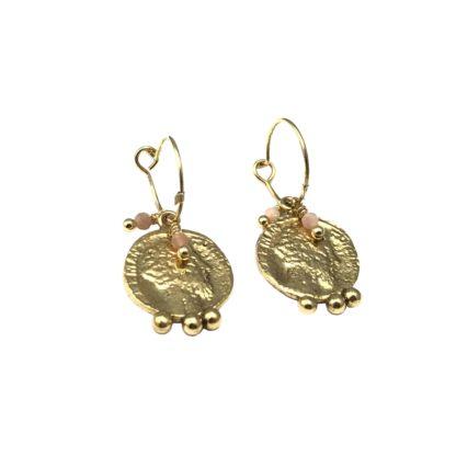 boucles d'oreilles créoles médailles