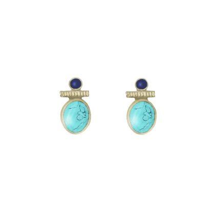 boucles d'oreilles puces turquoise canyon dolita