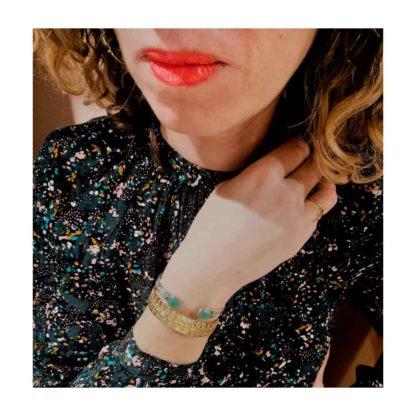 présentation bracelet jonc argent canyon dolita