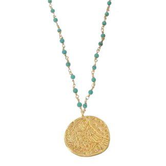 collier sautoir médaille antique delphes