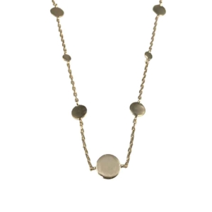 collier chaîne plaqué or pastille dalia dolita