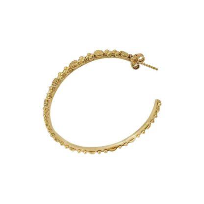 boucles d'oreilles xxl dorées jasmine créoles dolita