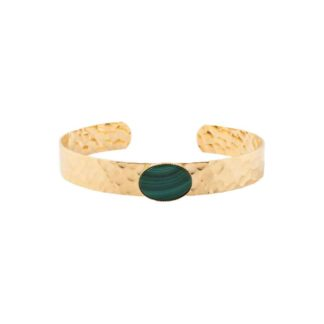 manchette bracelet fantaisie eva krystal dolita malachite