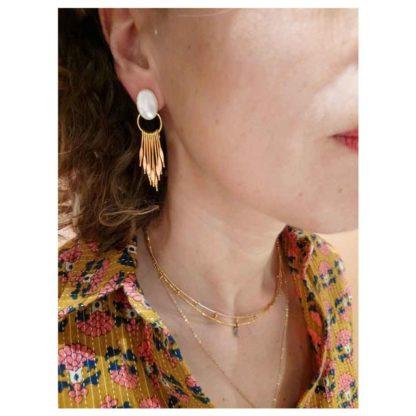 look présentation boucles d'oreilles griffes fabien ajzenberg dolita nacre