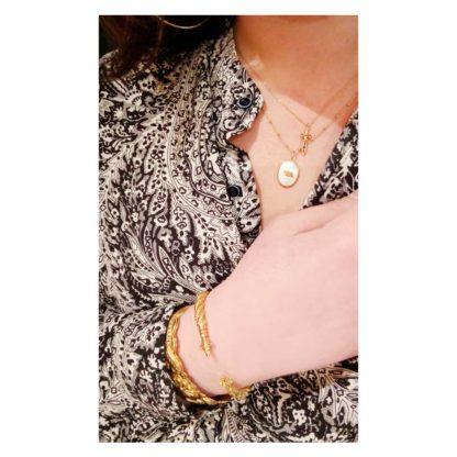 look présentation bracelet jonc la2l dolita collab