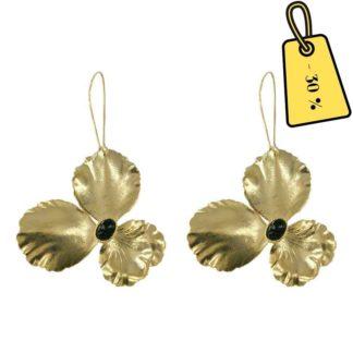 boucles d'oreilles femme dorées tendance fleurs