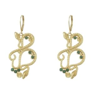 boucles d'oreilles serpent dorées bijoux fabrication française idées de cadeaux femme bijoux noël