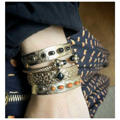 jonc suzette onyx l'atelier plume idée cadeau bijoux femme