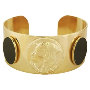 Idée cadeau Noël manchette style égyptien dorée pharaon onyx dear charlotte