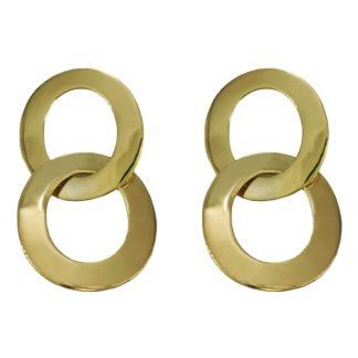 boucles d'oreilles dorées minimalistes excellente idée de cadeau bijoux éco responsable en laiton recyclé