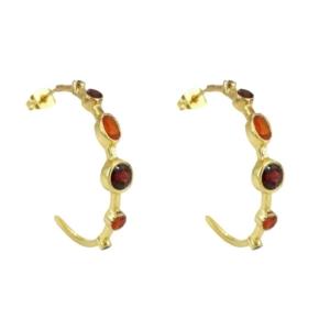 idée de cadeau femme bijoux boucles d'oreilles créoles empierrées diaperis dorées