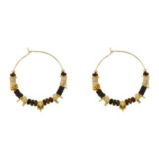 bijoux made in france idée de cadeaux boucles d'oreilles femme créoles perlées