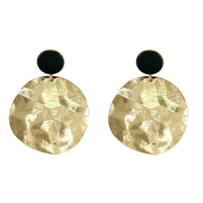 Boucles d'oreilles laiton doré Fabien Ajzenberg créateur de bijoux français