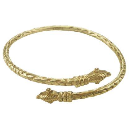 bracelet jonc antique en laiton doré de la marque de bijoux LA2L