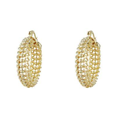 idée cadeau bijoux femme créoles chaîne plaqué or chez Dolita bijoux