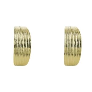 boucles d'oreilles créoles épaisses feuille bambou dorées chez Dolita bijoux