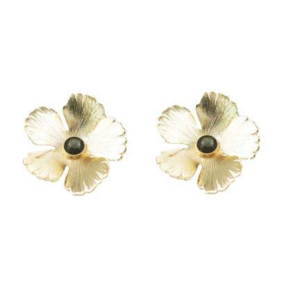 boucles d'oreilles fleurs du créateur Fabien Ajzenberg chez Dolita Bijoux