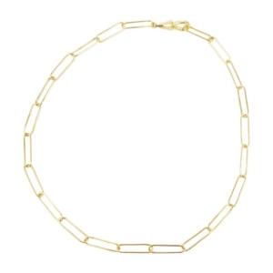 collier maille trombone doré de la créatrice Delphes chez Dolita bijoux