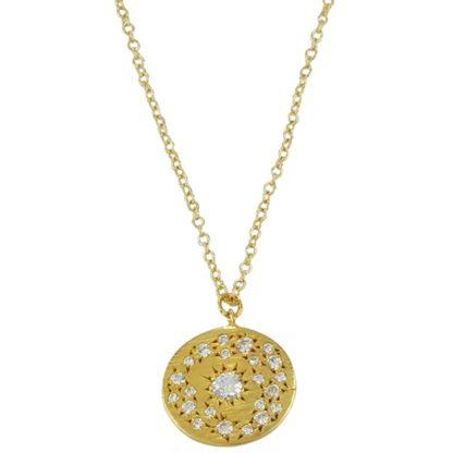 Collier maille gourmette avec médaille de la créatrice de bijoux parisienne Delphes bijoux idée de cadeau tendance femme