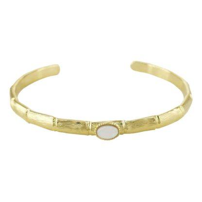 idée cadeau bijoux tendance le bracelet jonc avec nacre de la créatrice parisienne Eva Krystal chez Dolita bijoux