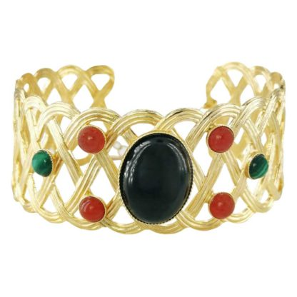 Idée de cadeau bijoux femme le bracelet manchette du créateur Fabien Ajzenberg chez Dolita Bijoux