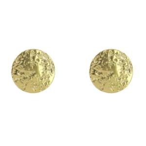 boucles d'oreilles puces dorées du créateur Fabien Ajzenberg chez Dolita bijoux