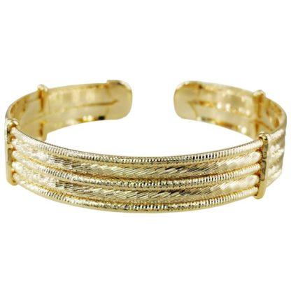 bracelet manchette doré réglable pour femme chez Dolita bijoux