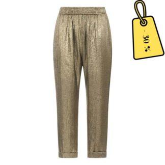 pantalon-femme-metallise-dore-Swildens