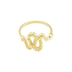 bague serpent doré femme