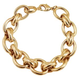bracelet femme chaine grosse maille