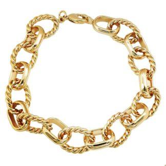 bracelet chaîne dorée plaqué or