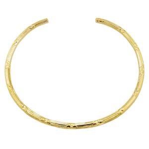 bracelet jonc doré fin strié femme