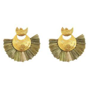 boucles d'oreilles femme gas bijoux doré Luna wave
