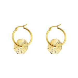 boucles d'oreilles créoles femme dorées