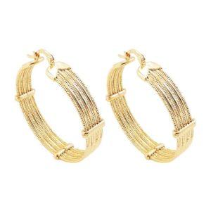 créoles épaisses dorées bijoux femme tendance