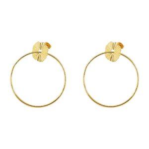 boucles d'oreilles maxi créoles dorées femme bijoux tendance