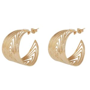 boucles d'oreilles dorées tendance bijoux femme