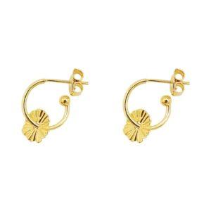boucles d'oreilles mini créoles grigri dorées femme