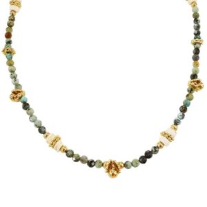 collier femme perles turquoises Petite Madame
